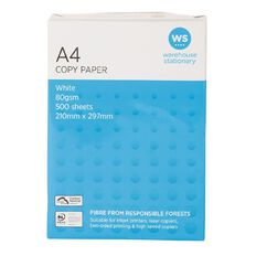 WS Photocopy Paper 80gsm 500 Pack White A4