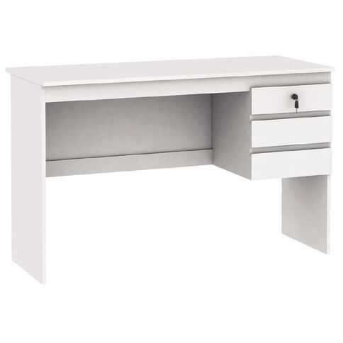 Workspace Soho 3 Drawer Student Desk White