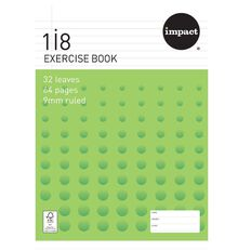 Impact Exercise Book 1I8 9mm Ruled 32 Leaf