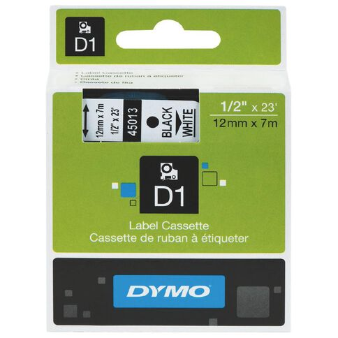 Dymo D1 Label Tape 12mm x 7m