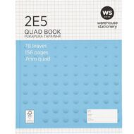 WS Exercise Book 2E5 7mm Quad 78 Leaf