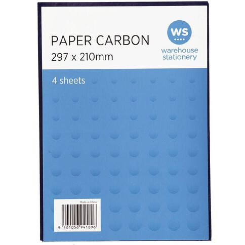 WS Paper Carbon 4 Sheets Blue A4