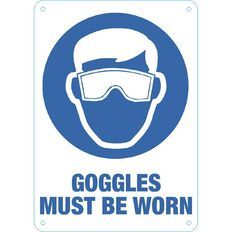Impact Goggles Must be Worn Sign Small 340mm x 240mm