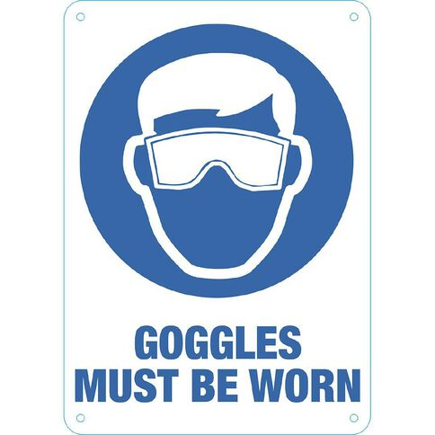 WS Goggles Must be Worn Sign Small 340mm x 240mm