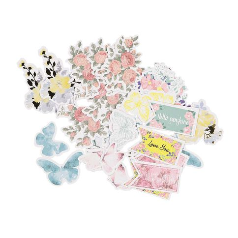 Uniti English Rose Cardstock die cut shapes