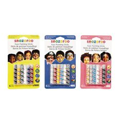 Snazaroo Face Painting Sticks 6 Pack Assorted