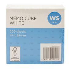 WS Memo Cube Refill Small 97 x 97mm White