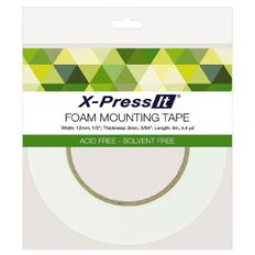 X-Press It Double Sided Foam Tape 2mm thick 12mm x 4m