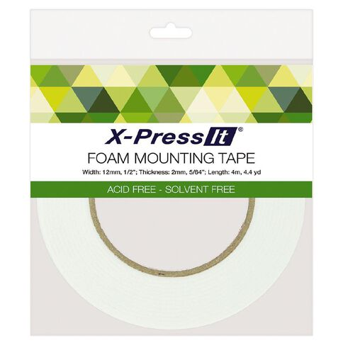 X-Press It Double Sided Foam Tape 2mm thick 12mm x 4m
