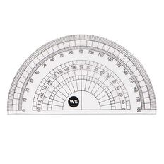 WS Protractor 180 10cm Clear