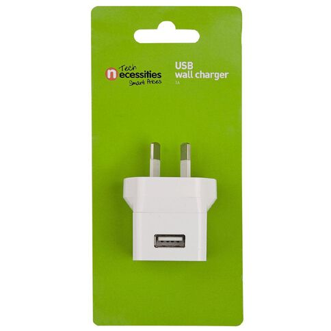Necessities Brand Wall Charger 1A White