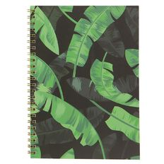 Uniti Fun & Funky Q4 Soft Cover Spiral Notebook Tropical Green A5
