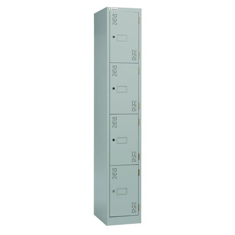 Precision 4 Tier Locker Silver Grey