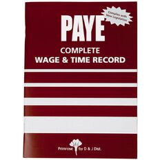 Goldfields Wages Book Primrose Soft Cover Red A5