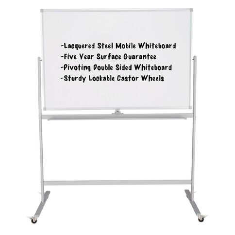 Boyd Visuals Mobile Lacquered Board 900 x 1200mm White