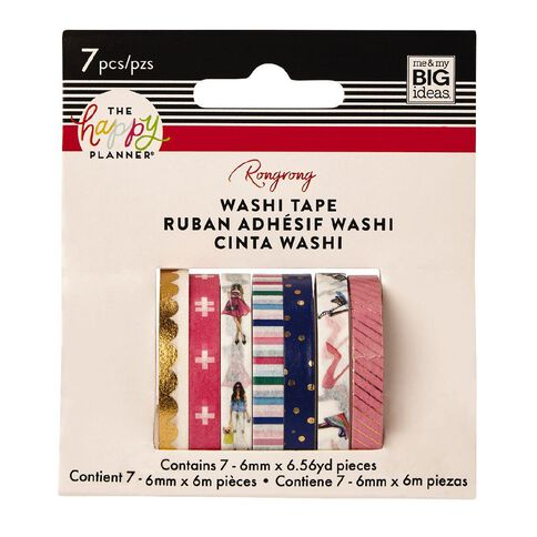 Me & My Big Ideas Washi Tape 6mm x 6m Fashion 7 Pack