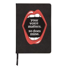 WS Voice Matters Notebook Black A5