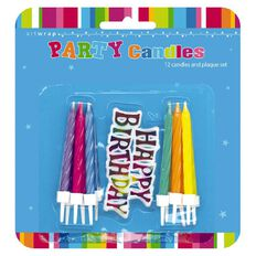 Artwrap 12 Candles with Birthday Plaque