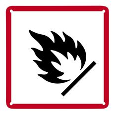 Impact Fire Sign Small 300mm x 300mm
