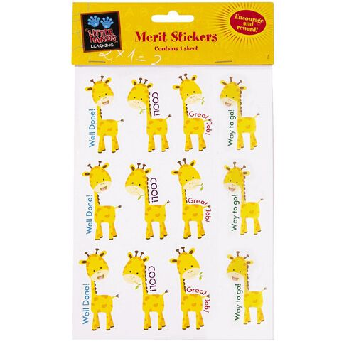 Little Hands Learning Merit Stickers Giraffes