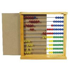 Tfc Abacus Slavonic Fives With Back Multi-Coloured