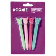 Kookie Novelty-P Unicorn Crayons 4 Pack