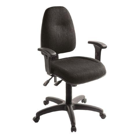 Eden Spectrum Deluxe 3 Lever Highback Ergonomic Chair with Arms Ebony