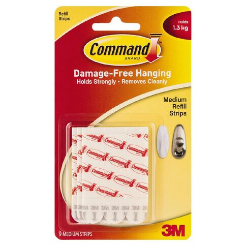 Command Mounting Strips 17021P White Medium
