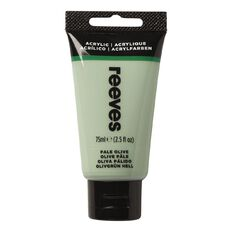 Reeves Fine Acrylic Pale Olive 450 75ml Green 75ml