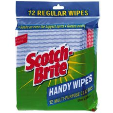 Scotch-Brite Antibacterial Wipes 12 Pack Multi-Coloured