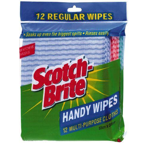 Scotch-Brite Antibacterial Wipes 12 Pack Multi-Coloured
