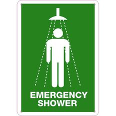 WS Emergency Shower Sign Small 340mm x 240mm
