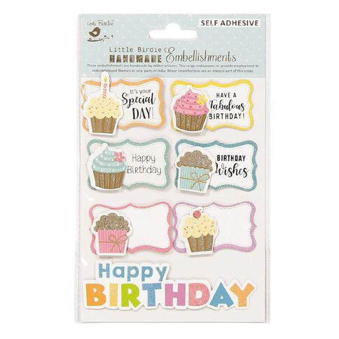Little Birdie Sticker Birthday Treats 7 Piece