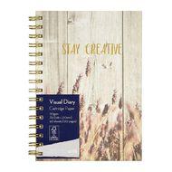 Uniti Platinum Visual Diary Spiral Stay Creative 110gsm 60 Sheets A5