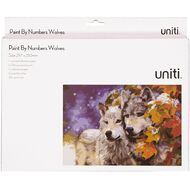 Uniti Paint by Numbers A4 Wolves