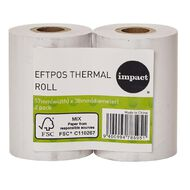 Impact Eftpos Roll 57 x 38mm Twin Pack