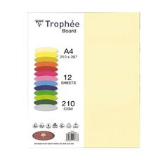 Trophee Board 210gsm 12 Pack Chamois A4