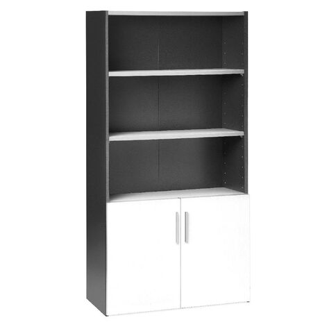 Jasper J Emerge 700 Wood Doors Storage Cupboard White/Ironstone