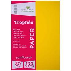 Trophee Paper 80gsm 100 Pack Sunflower Orange A4