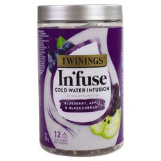 Twinings Infuse Cold Water Infusion Bluebery Aple & Blackcurrant 12 Pack