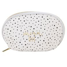 Uniti Black&Gold Pencil Case White and Black Dot