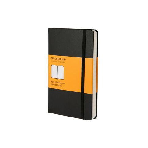 Moleskine Classic Hard Cover Notebook Ruled Black