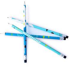 Kookie Geo Cloud Pencil 4 Pack Blue