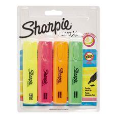 Sharpie Fluo Highlighter Assortment 4 Pack XL Mixed Assortment