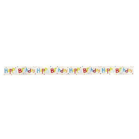 Artwrap Happy Birthday Foil Banner 12.5cm x 180cm