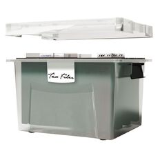Workspace Suspension File Box Clear 30L