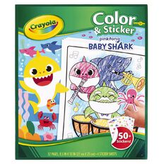 Crayola Colour & Sticker Book Baby Shark