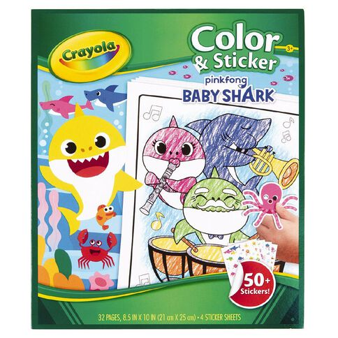 Crayola Colour & Sticker Book Baby Shark