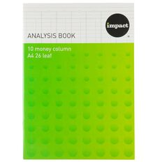 WS Analysis Book Limp 10 Column Blue A4