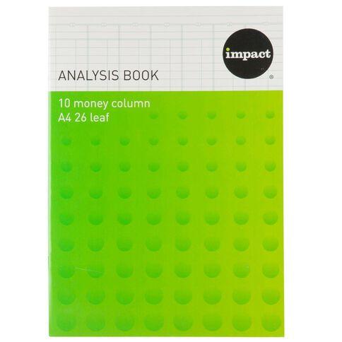 Impact Analysis Book Limp 10 Column Blue A4